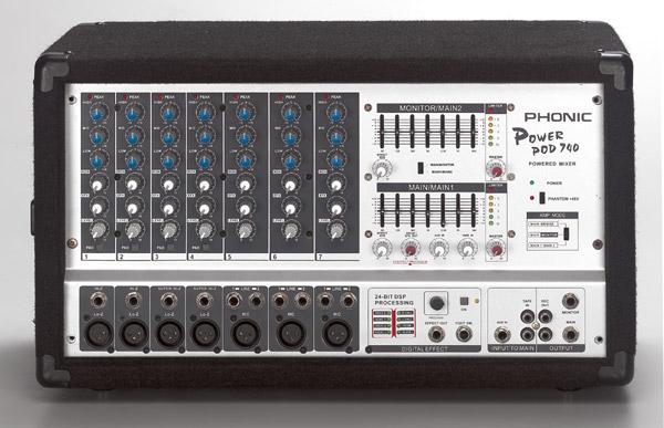 Phonic Powerpod 740 Disco Equipment Hire