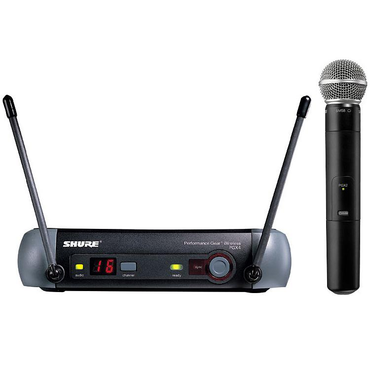shure pgx24 sm58 uhf radio mic system hire london. Black Bedroom Furniture Sets. Home Design Ideas