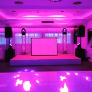 dj booths and starcloth hire