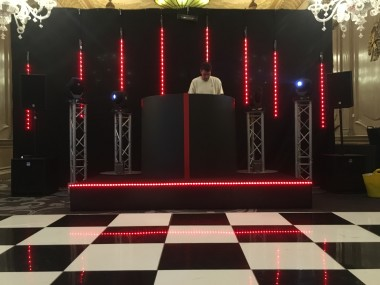 Black Curved DJ Booth